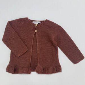 Gilet tricot bruin Eve Children 3jr
