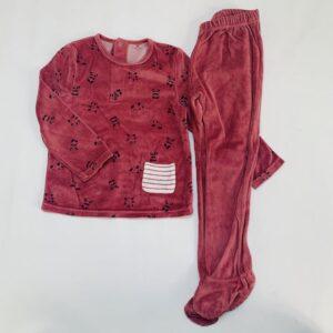 Pyjama fleece bordeaux panda La Redoute 4jr