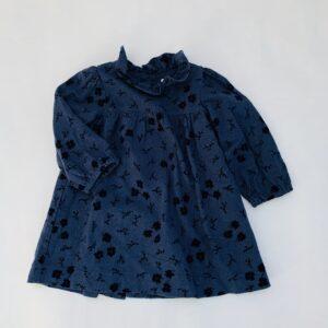 Kleedje donkerblauw flowers Zara 2-3jr / 98