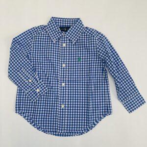Hemd blauw ruitjes Ralph Lauren 2jr