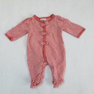 Onesie met voetjes  strikjes pink Tape à l'oeil 0m/ 50