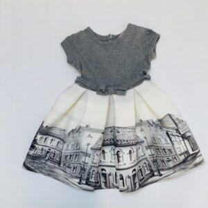 Elegant kleedje met brede rok city Monnalisa 3jr
