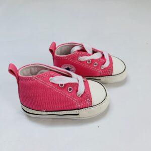 Babyschoentjes pink Converse maat 18