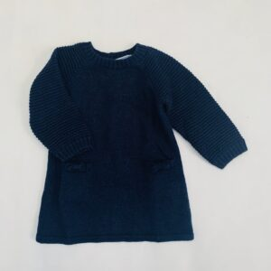 Kleedje tricot donkerblauw Jacadi 6m / 67