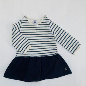 Kleedje duo stripes Petit Bateau 6m / 67