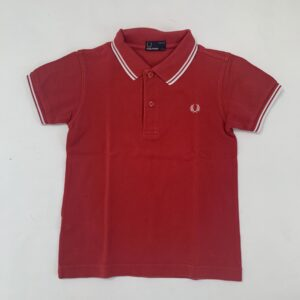 Retro polo rood Fred Perry  6-7jr / 122