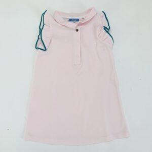 Retro kleedje light pink frill mouw Jacadi 24m / 88