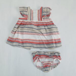 Kleedje + bloomer stripes Zara 6-9m / 74