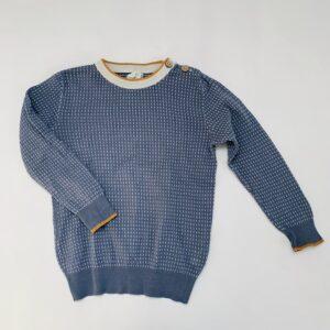 Sweater tricot grijsblauw Filou & Friends 6jr