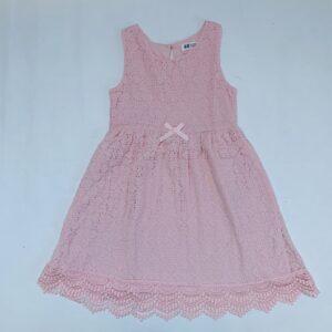 Kanten kleedje sleeveless pink H&M 6-8jr / 122/128