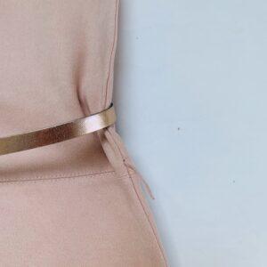 Daim kleedje shortsleeve pink met riempje Blue Bay 116