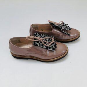 Lakschoenen pearl met leopard lapje Beberlis maat 31