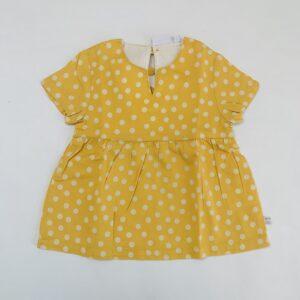 Blouse yellow polkadots Noukie's 9m / 74