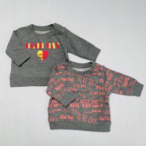 2x sweater logo Blue Bay baby 62/68