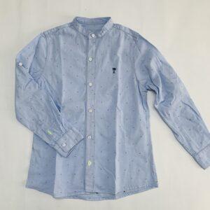 Blauw hemdje met maokraag palmtree slim fit Mayoral 7jr / 122