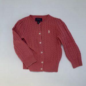 Cableknit gilet pink Ralph Lauren 2jr / 92