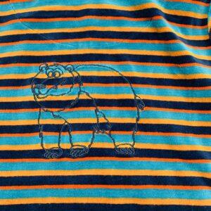 Onesie hoodie stripes met kap Woody 6jr