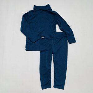 Setje thermo ondergoed donkerblauw Wedze 80/86