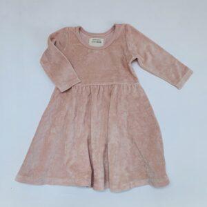 Fluwelen kleedje pink Little Indians 18-24m