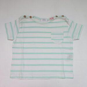 T-shirt mint stripes Zara 6-9m / 74