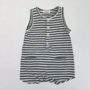 Onesie sleeveless stripes 1+ in the family 9m