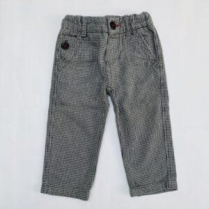 Broekje ruit aanpasbaar Zara 9-12m / 78