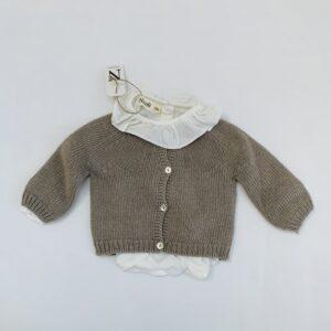 Gebreide trui + blouse met kraagje Nicoli 3-6m