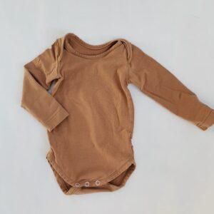 Romper longsleeve bruin Yumi Baby 62/68