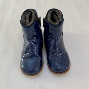Enkelbotjes blauw fluweel / laqué Clarys maat 26