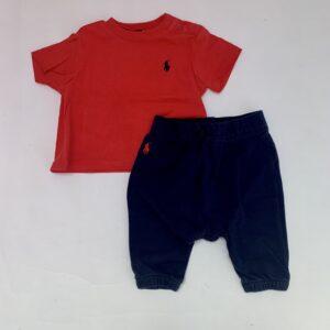 Setje t-shirt + sweatpants Ralph Lauren 3m / 60