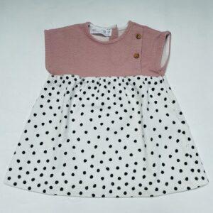 Kleedje duo pink/dots Zara 9-12m / 80