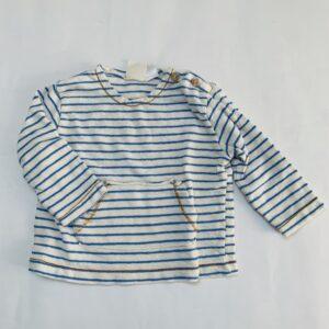 Longsleeve blue stripes Zara 6-9m / 74