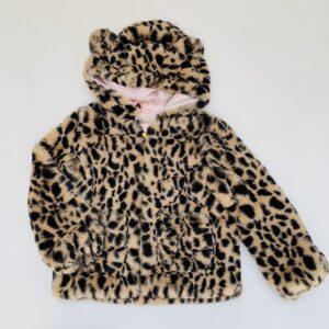 Teddy jas leopard H&M 4-6jr / 110/116