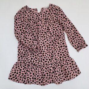 Kleedje longsleeve geribd leopard H&M 4-5jr / 110
