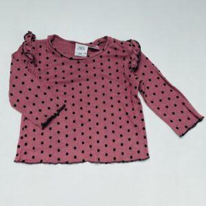 Longsleeve frill dots Zara 9-12m / 80