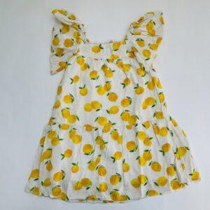 Kleedje frill mouw lemons H&M 5-6jr / 116