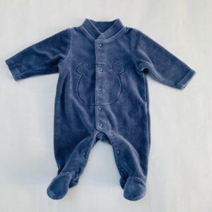 Boxpakje fluweel blauw bear Noukie's 0m / 50
