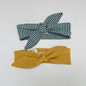 2x haarband stripes / oker Little Indians