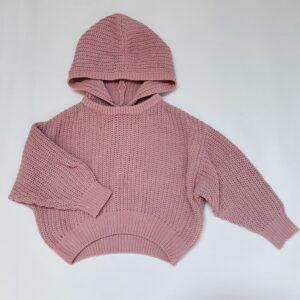 Hoodie grof gebreid pink Zara 6-7jr / 120