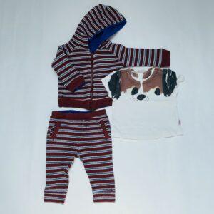 Setje hoodie / t-shirt / broekje Hilde & co 68