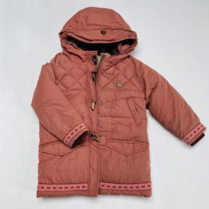 Gevoerde jas met kap en teddy binnenin Scotch R'Belle 4jr / 104