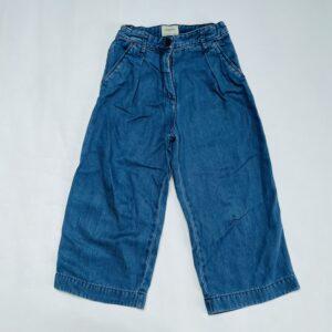 Donkerblauwe zachte denim broek aanpasbaar Bellerose 6jr