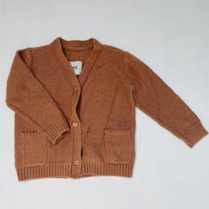 Gilet tricot bruin Repose AMS 2jr