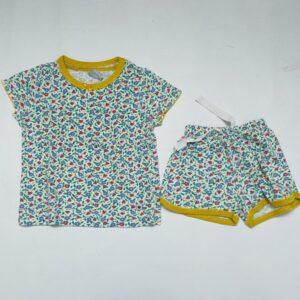 Korte pyjama tweedelig flowers Petit Bateau 3jr / 95