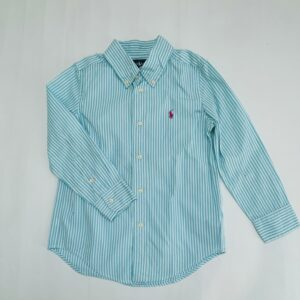 Hemd blauwe streepjes Ralph Lauren 5jr
