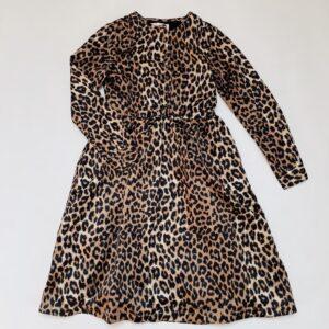 Lang kleed leopard gladde stof Les Coyotes de Paris 10jr