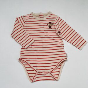 Romper longsleeve stripes cat Tiny Cottons 9m