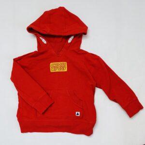 Hoodie rood one way my way Ammehoela 3-4jr / 98/104
