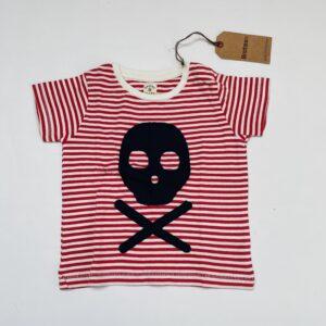 T-shirt stripes skelet Brotes 12-18m