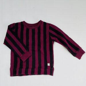 Sweater paint stripes bordeaux Sproet & Sprout 2-3jr
